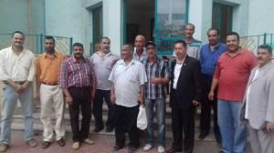 الخوجة مع  مجموعة من معلمي مصر بنقابة المعلمين بالشرقية